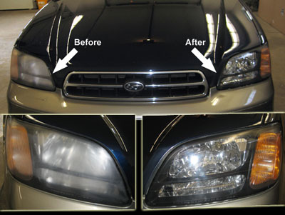 Before and After for Headlight Restoration in Maine