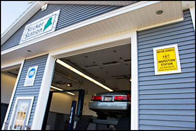 Maine Inspection Sticker Stations